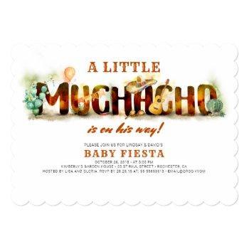 Fiesta Baby Shower Invitation Mexican Fun
