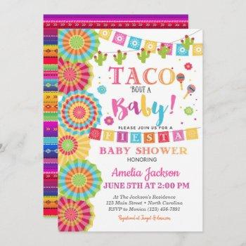 Fiesta Baby Shower Invitation Taco Bout A Baby