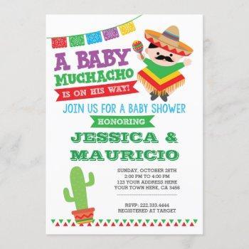 Fiesta Boy Baby Shower Invitation