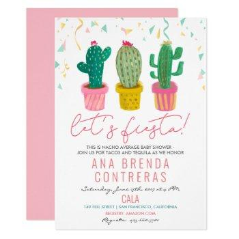 Fiesta Cactus Baby Shower Invitation