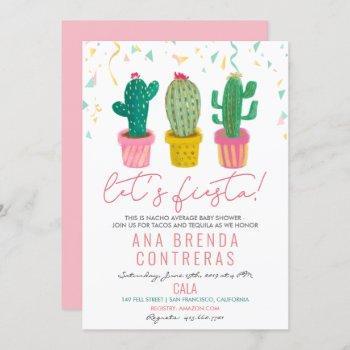 Fiesta Cactus Baby Shower Invitation