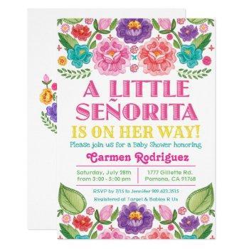 Fiesta Floral Baby Shower Invitation