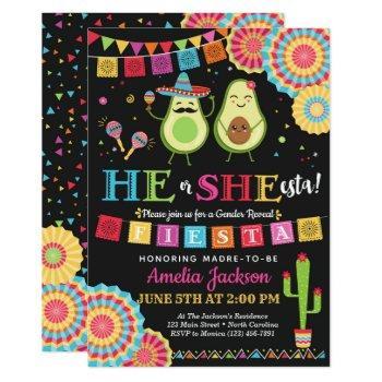 Fiesta He Or She-esta Invitation Mexican