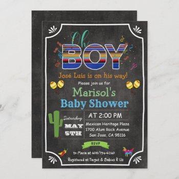 Fiesta Mexican Oh Boy Baby Shower Invitation