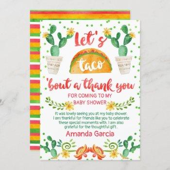Fiesta Taco Bout A Baby Thank You Card