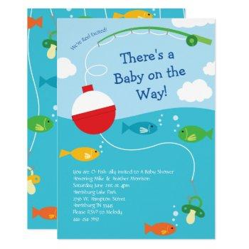Fish Theme Fishing Baby Shower For Fishermen Invitation