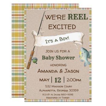 Fishing Invitation Boy Baby Shower Invitation