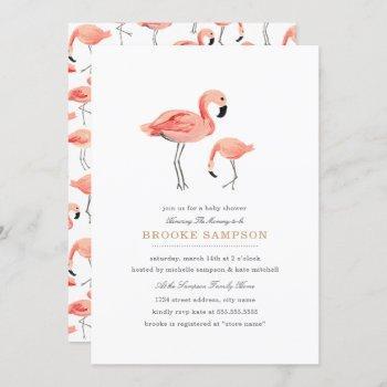 Flamingo Baby Shower Invitation