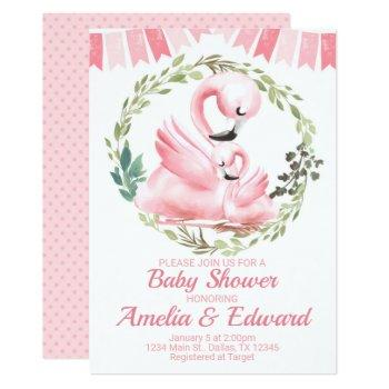 Flamingo Baby Shower Invitation Invite