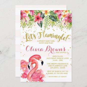 Flamingo Baby Shower Invitation Let's Flamingle