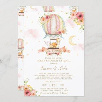 Floral Hot Air Balloon Baby Shower By Mail Animals