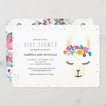 Floral Llama Baby Shower