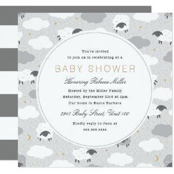 Fluffy Sheep Baby Shower Invitation