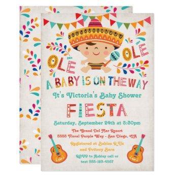 Folk Art Mexican Fiesta Baby Shower Invitation