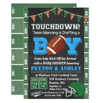 Football Baby Shower Chalkboard Invitation