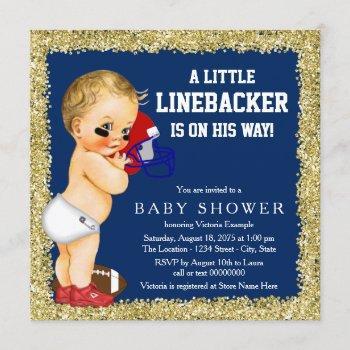Football Baby Shower Invitation