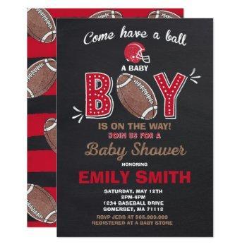 Football Baby Shower Invitation Sport Baby Shower