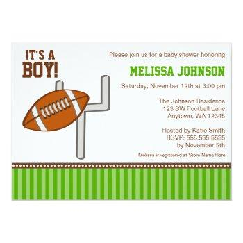 Football Boy Baby Shower Invitations