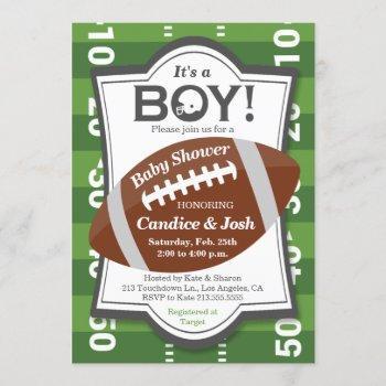 Football It's A Boy Baby Shower Invitation
