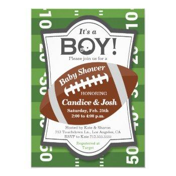 Football It's A Boy Baby Shower Invitation