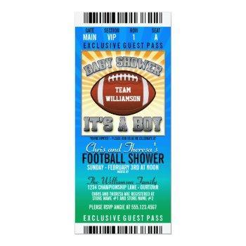Football Party Baby Shower Invitation