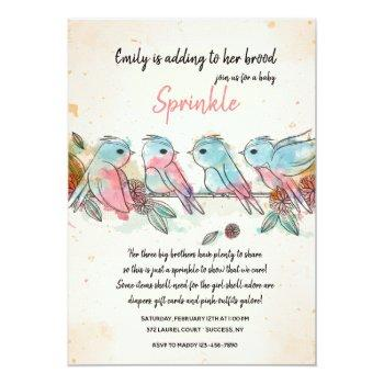 Four Little Birds Invitation