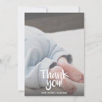 Fun, Your Photo, Boy, Baby Shower Thank You Card