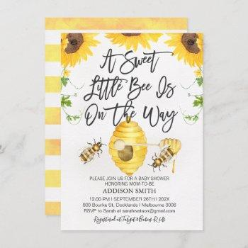 Gender Neutral Bee Themed Baby Shower Invitation