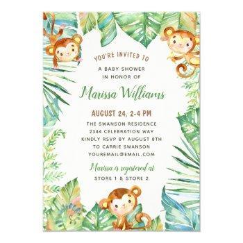 Gender Neutral Jungle Baby Shower Invitation