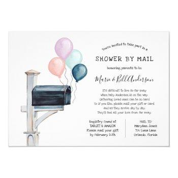 Gender Neutral Long Distance Shower By Mail Invitation