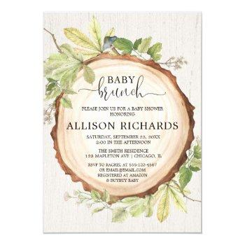 Gender Neutral Rustic Baby Brunch Shower Invitation