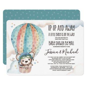 Gender Neutral Teddy Bear | Baby Shower By Mail Invitation