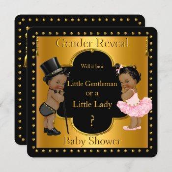 Gender Reveal Baby Shower Boy Or Girl Ethnic Invitation