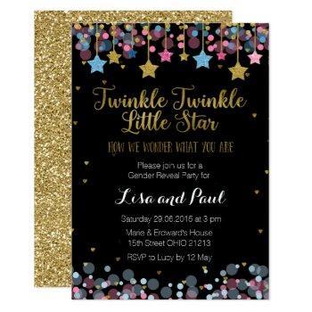 Gender Reveal Twinkle Twinkle Little Star Card