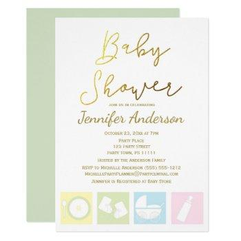 Generic Unisex Boy Or Girl Baby Shower Invitation