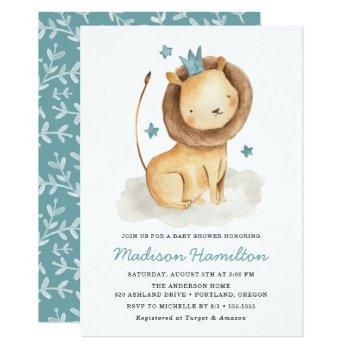 Gentle Lion | Baby Shower Invitation