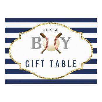 Gift Table Sign | Baseball Boy Baby Shower Invitation