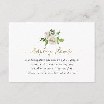 Gilded Blooms Display Shower No Gift Wrap Request Enclosure Card