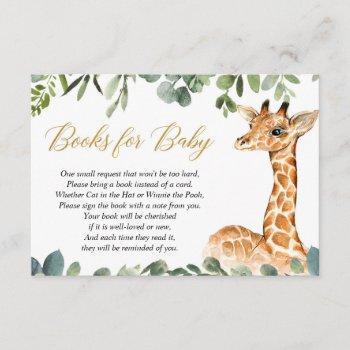 Giraffe Baby Shower Book Instead Of A Card