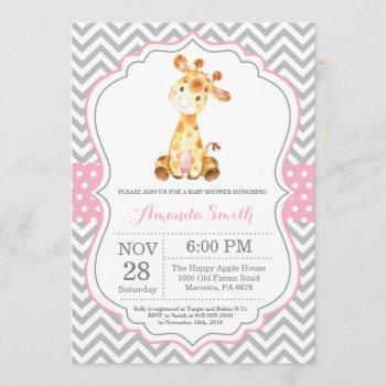 Giraffe Baby Shower  Pink And Gray