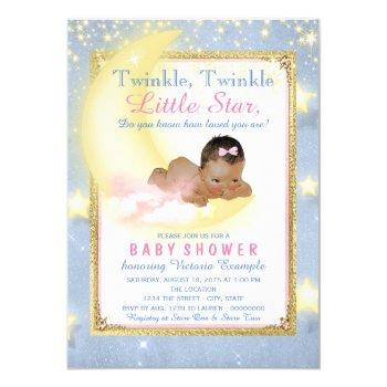 Girl Twinkle Twinkle Little Star Baby Shower Invitation