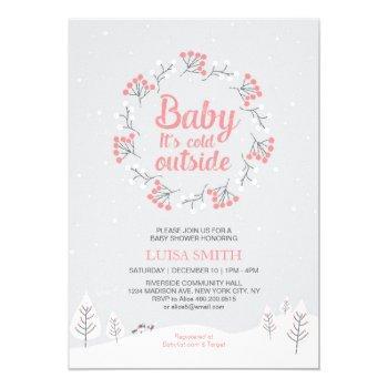 Girl Winter Wonderland Baby Shower, Sprinkle Card