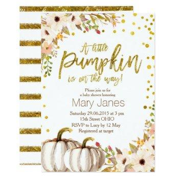 Gold Pumpkin Invitation