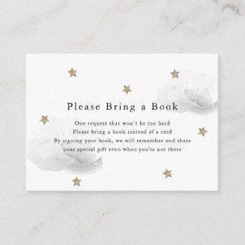 Gold Stars & Gray Clouds Please Bring A Book Card