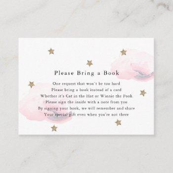 Gold Stars & Pink Clouds Please Bring A Book Card