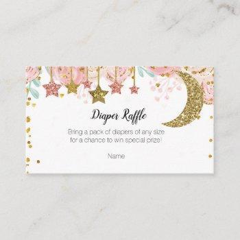 Gold Twinkle Twinkle Diaper Raffle Enclosure Card
