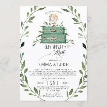 Greenery Baby Shower By Mail Long Distance Travel