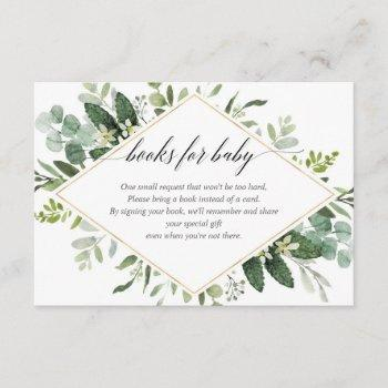 Greenery Green And Gold Foliage Book Request Enclosure Card
