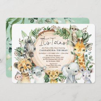Greenery Jungle Party Animals Twins Baby Shower