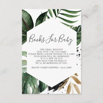 Greenery Tropical Geometric Books For Baby Enclosure Card